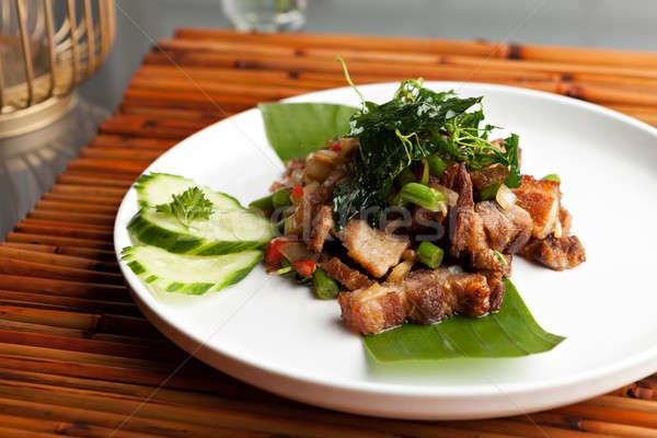 тайский хрустящий свинина еды традиционный блюдо Сток-фото © arenacreative