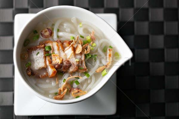 Сток-фото: тайский · суп · хрустящий · свинина