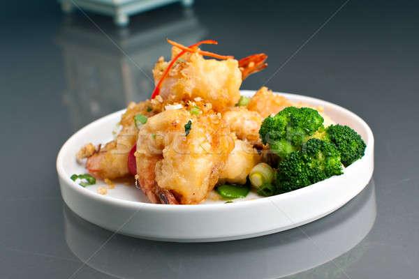 Crujiente frito miel camarón tailandés estilo Foto stock © arenacreative
