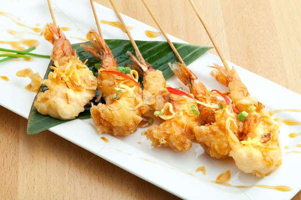 Thai Tempura Shrimp Skewers Stock photo © arenacreative