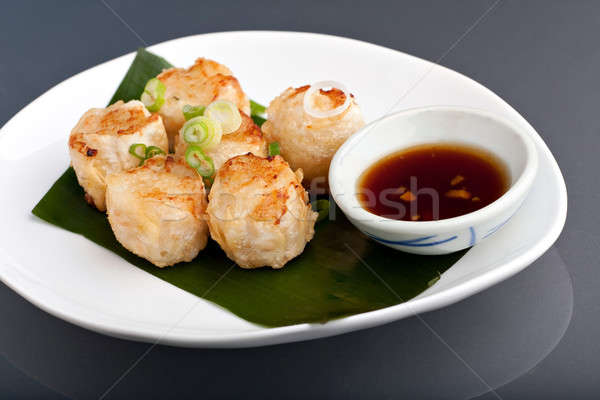 Photo stock: Thai · frit · boulette · soja · sauce