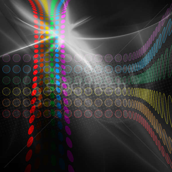 Tęczy circles układ kolorowy streszczenie szablon Zdjęcia stock © ArenaCreative