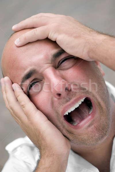 Kaal man hoofd Stockfoto © ArenaCreative