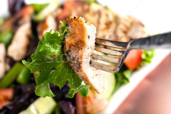 Delicious Grilled Chicken Salad Stock photo © ArenaCreative
