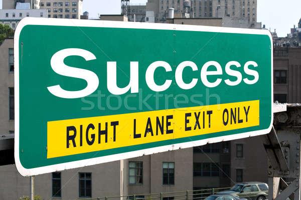 Sucesso sinal da estrada verde palavra negócio Foto stock © ArenaCreative
