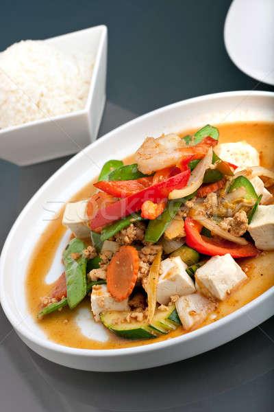 タイ料理 コメ 新鮮な 豆腐 白 ストックフォト © ArenaCreative