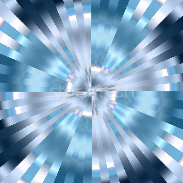 Kék örvény hideg 3D absztrakt fény Stock fotó © ArenaCreative