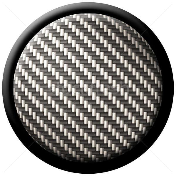 carbon fiber button Stock photo © ArenaCreative