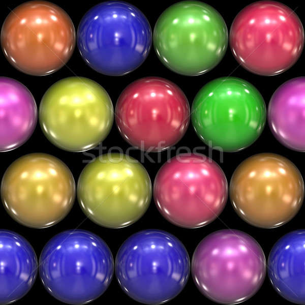 Glassy 3D Balls Stock photo © ArenaCreative