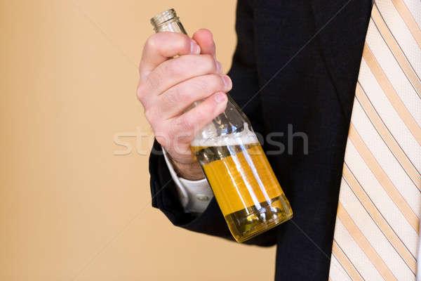 Bier werk zakenman pak wonen Stockfoto © ArenaCreative