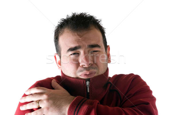 Cold Shivering Man Stock photo © ArenaCreative