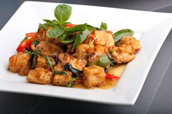 タイ料理 コメ 新鮮な フライド 豆腐 ストックフォト © ArenaCreative