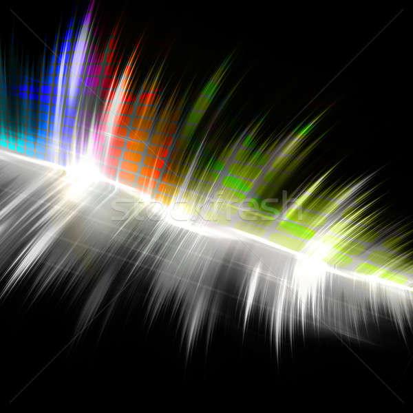 Rainbow Musical Wave Form Stock photo © ArenaCreative