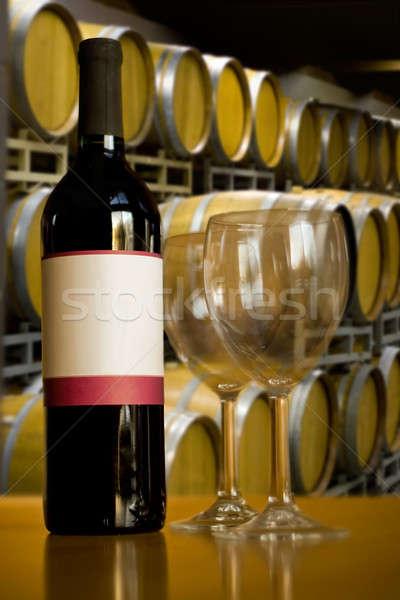 Vinícola degustação de vinhos natureza morta tiro garrafa de vinho par Foto stock © ArenaCreative