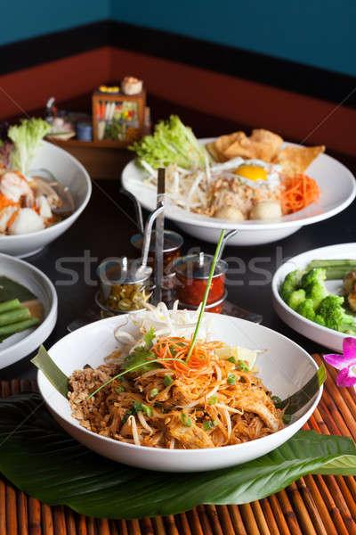 Сток-фото: разнообразие · тайский · блюд · креветок · морепродуктов · блюдо
