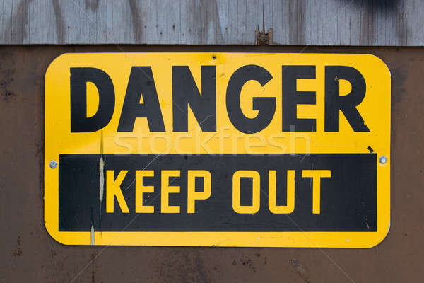 Danger Keep Out Sign Stock photo © ArenaCreative