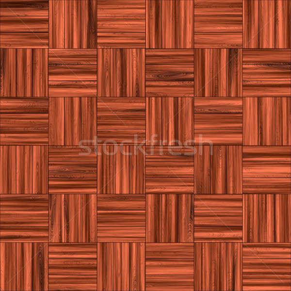 Checkered Wooden Floor Stock photo © ArenaCreative