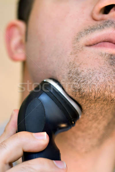 Man Shaving His Goatee Stock photo © ArenaCreative