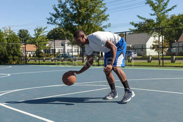 Basketball Player Dribbling Stock photo © arenacreative