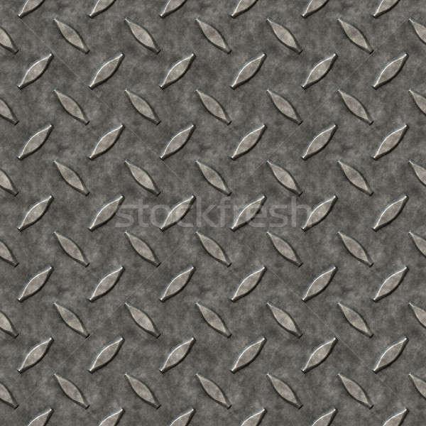 Diamond Plate Metal Pattern Stock photo © ArenaCreative