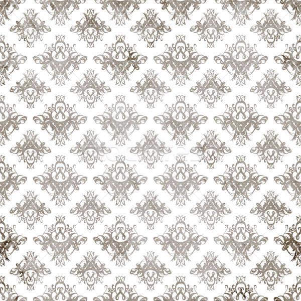 Antique Damask Pattern  Stock photo © ArenaCreative