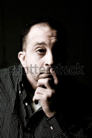 Contemplative Man Stock photo © ArenaCreative