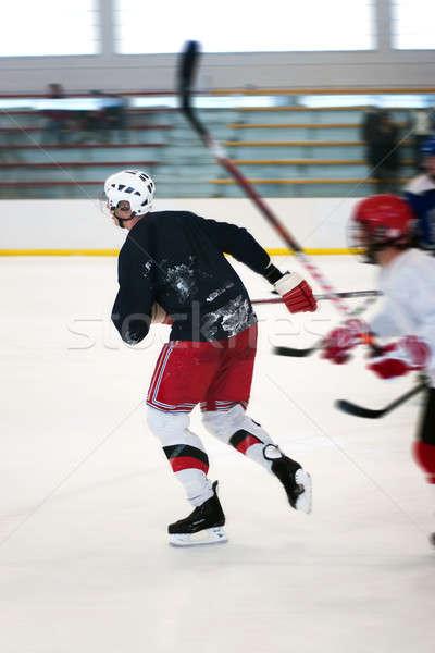 Hockey jugadores hielo resumen dos Foto stock © ArenaCreative