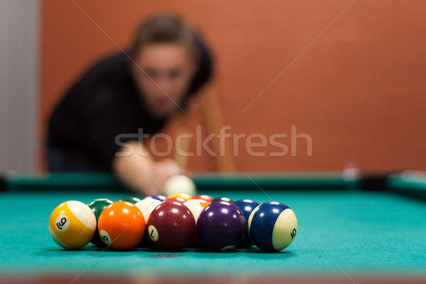 Billiards Player Stock photo © ArenaCreative