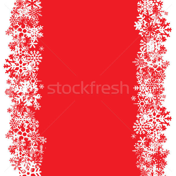 Snowflakes Layout Stock photo © ArenaCreative