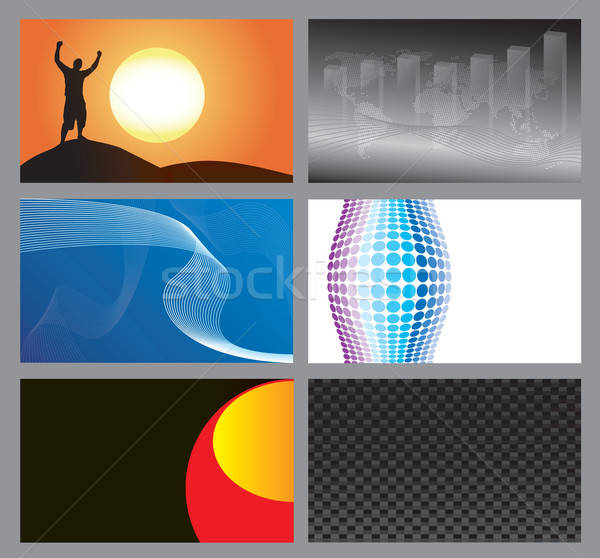Vector Business Cards Stock photo © ArenaCreative