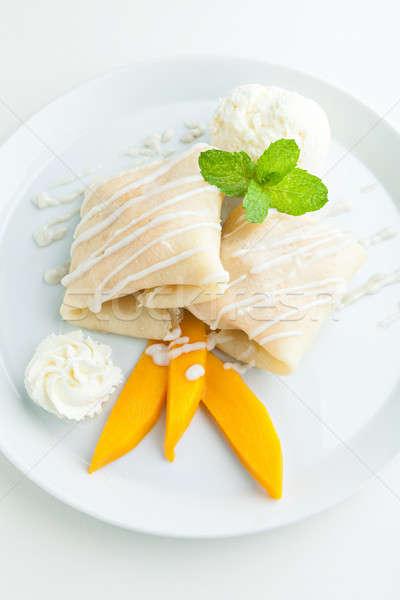 Mangó rizs thai stílus trópusi desszert Stock fotó © arenacreative