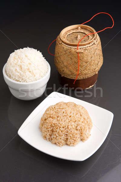Stok fotoğraf: Taylandlı · pirinç · farklı · stil · hazır · beyaz