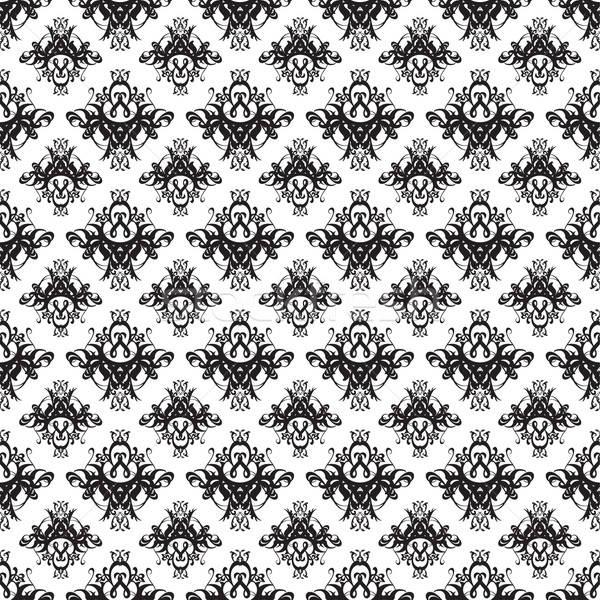 Adamaszek tapety wzór ilustracja bezszwowy tekstury Zdjęcia stock © ArenaCreative