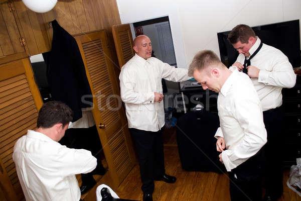Groomsmen Getting Ready Stock photo © ArenaCreative