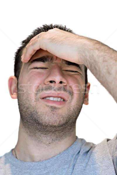 Homme douleur jeune homme tête angoisse visage Photo stock © ArenaCreative