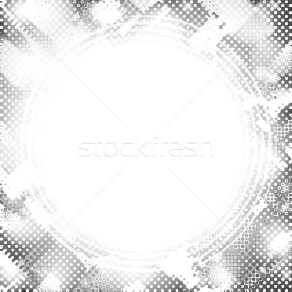 Funky Halbton Rahmen abstrakten Hintergrund rot Stock foto © ArenaCreative