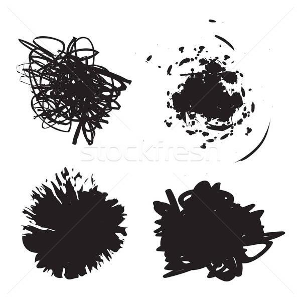 Grunge sıçramak boya az farklı kareler Stok fotoğraf © ArenaCreative