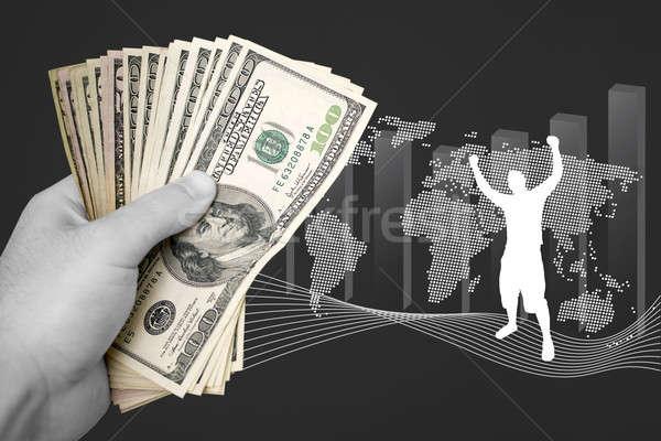 Rentável negócio sucesso numerário isolado financiar Foto stock © ArenaCreative