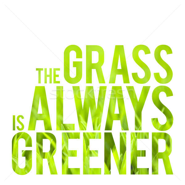 The Grass is Always Greener Stock photo © arenacreative