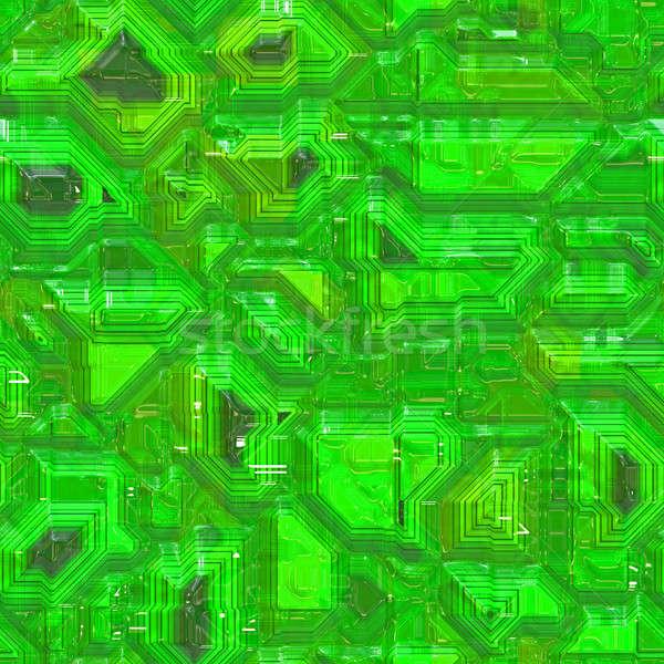 Számítógép nyáklap minta végtelenített citrus zöld Stock fotó © ArenaCreative