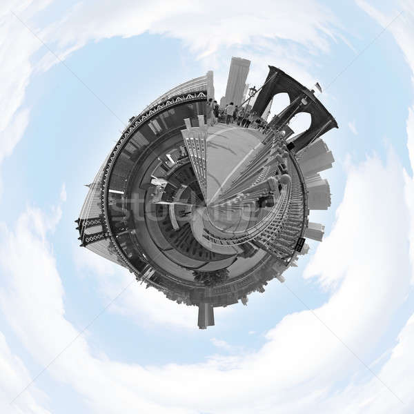 NYC Planet Panorama Stock photo © ArenaCreative