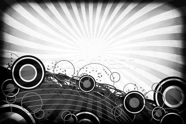 Vintage Retro Circles Abstract Layout Stock photo © ArenaCreative
