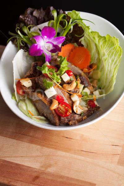 Tailandés crujiente pato ensalada frescos verde Foto stock © arenacreative