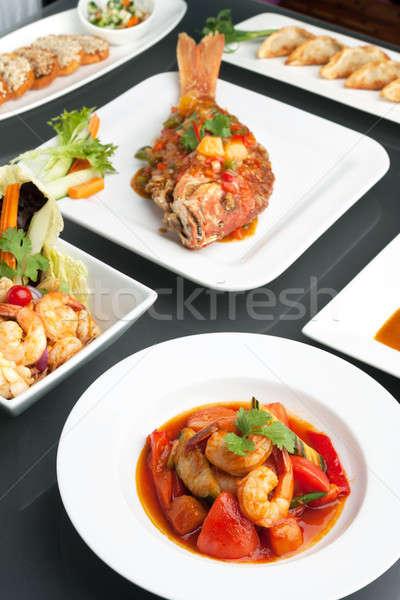 Сток-фото: тайская · еда · разнообразие · тайский · стиль · все · рыбы