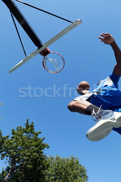 Basketball Dunk from Below Stock photo © arenacreative