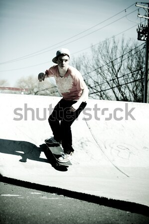 Skateboarder Doing Tricks Stock photo © ArenaCreative