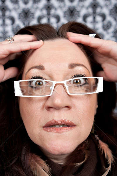 Woman Losing Her Mind Stock photo © ArenaCreative