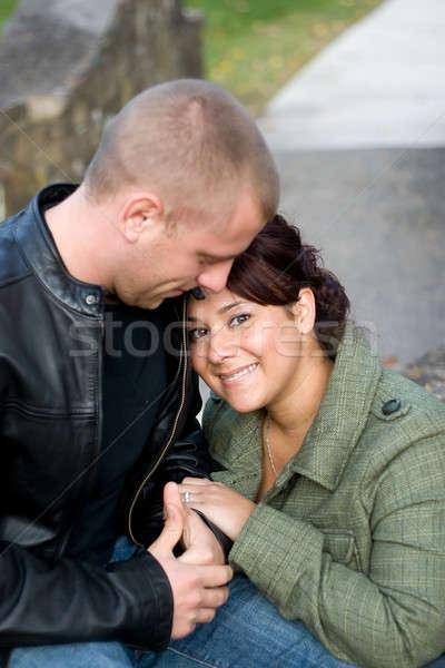 Happy Couple Outdoors Stock photo © ArenaCreative