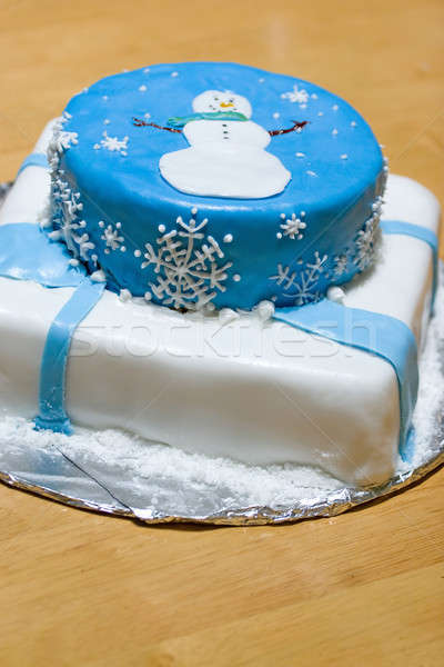 Snowman Cake Stock photo © ArenaCreative