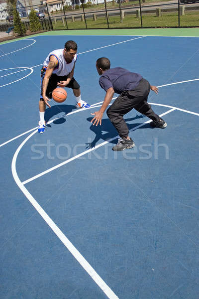 Men Playing Basketball Stock photo © ArenaCreative